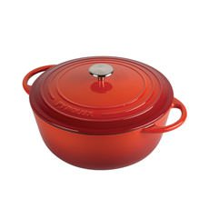 Pyrochef Enamelled Cast Iron Casserole 28cm - 6L Red