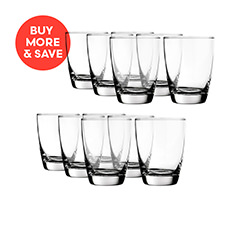 Old Fashioned Milan Glass 365ml 6pc (2 Sets)