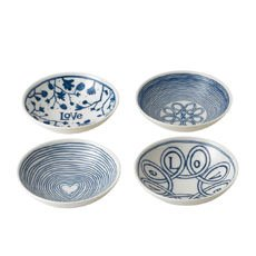 Royal Doulton Ellen DeGeneres Blue Love Accents <b>Bowl</b> Set of 4