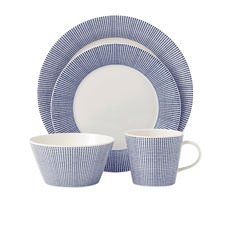 Royal Doulton Pacific Dots 16pc <b>Dinner</b> Set Blue