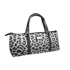 Insulated Wine Purse Leopard Grey