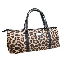 Insulated Wine Purse Leopard