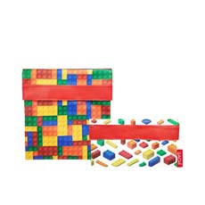 Sachi <b>Lunch</b> Pockets Set 2pc Bricks