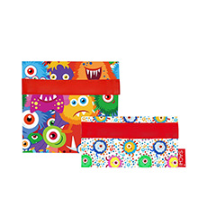 Sachi <b>Lunch</b> Pockets Set 2pc Monsters
