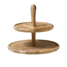 Parquetry 2 Tier Cake Stand 32x27cm
