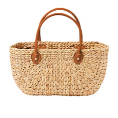 Province Carry Basket w/ Suede Handles Large