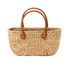 Province Carry Basket w/ Suede Handles Medium