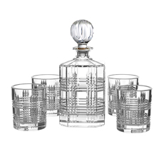 Bond 5pc Tartan Decanter & Tumbler Set