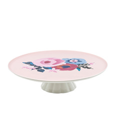 Willow Footed Cake Stand 30x8cm Rose
