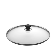 Glass Lid with Silver Rim 28cm