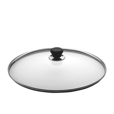 Glass Lid with Silver Rim 32cm