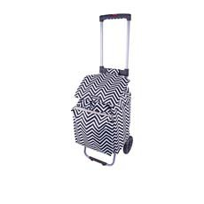 Polo Shopping Trolley w/ Retractable Handle Chevron