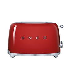 50s Retro Style 2 Slice Toaster Red