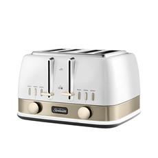 New York 4 Slice Toaster   White Gold