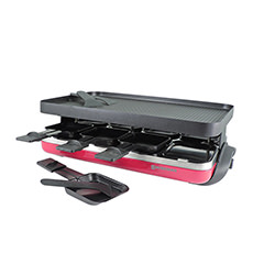 Valais 8 Person Raclette Party Grill  Red