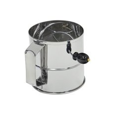Flour Sifter S/S w/ Crank Handle 8-Cup