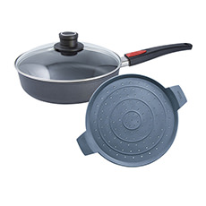 Woll Diamond Lite Induction Saute Pan 28cm with Splatter Guard