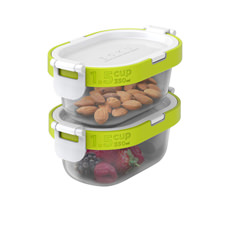 Zoku Neat Stack Snack <b>Container</b> Set of 4