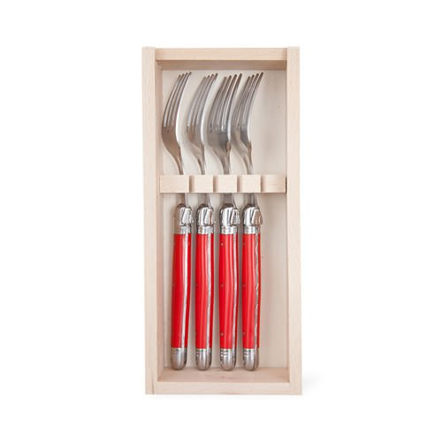 Laguiole by Andre Verdier Classique Forks 4pc Red