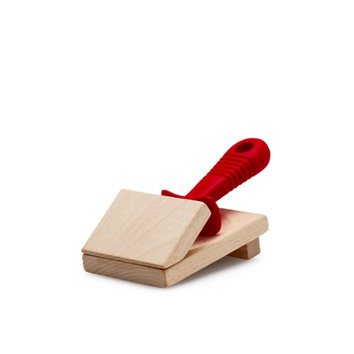 Laguiole by Andre Verdier Oyster Knife with Wooden Block Red