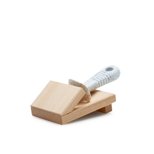 Laguiole by Andre Verdier Oyster Knife with Wooden Block White
