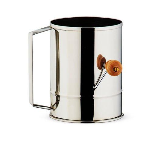 Baker's Secret Stainless Steel Crank Sifter 5 Cup