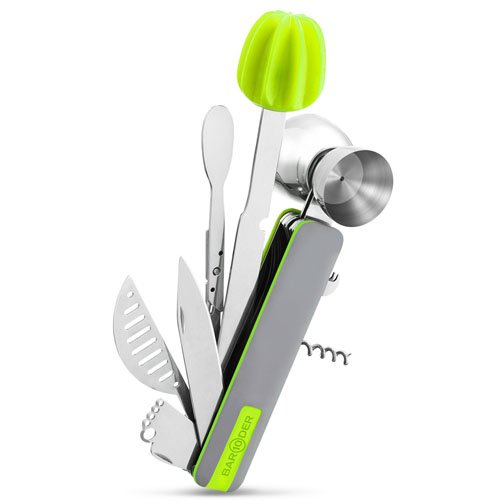 Bar10Der Ultimate 10-in-One Bar Tool - Green