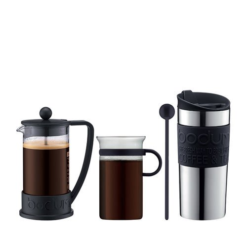 Bodum Brazil Coffee Set 4pc Black