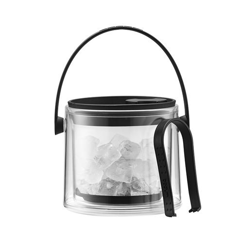Bodum Cool Double Wall Ice Bucket with Tongs 1.5L Black
