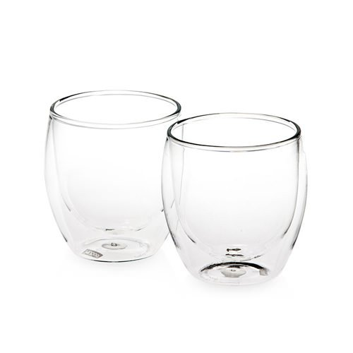 double walled glasses bodum pavina 2pc wall glasses 250ml on now 10769