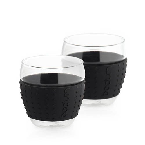Bodum Pavina 2pc Glass Set w/ Silicone Band 350ml - Black