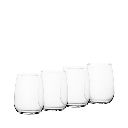 Bormioli Rocco Premium Stemless Wine Glass Set of 4
