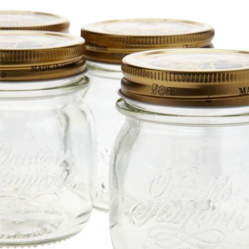Bormioli Rocco Quattro Stagioni Storage Jars 250ml 4pc Set