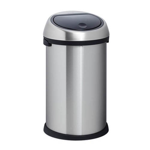 buy brabantia 50l bin brilliant steel black soft touch poubelle brabantia touch bin 50l. Black Bedroom Furniture Sets. Home Design Ideas