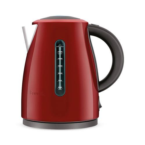 Breville The Soft Top Clear Kettle Red Cranberry