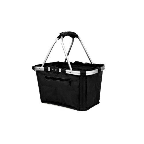 Shop & Go Carry Basket Double Handle Black