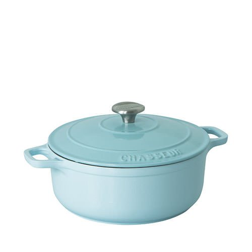 Chasseur Round French Oven 28cm - 6.3L Duck Egg Blue
