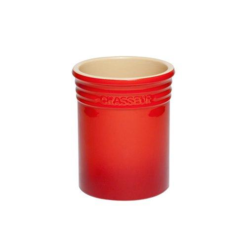 Chasseur La Cuisson Utensil Jar Red