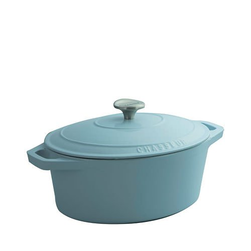 Chasseur Oval French Oven 27cm - 3.6L Duck Egg Blue