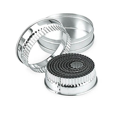 Chef Inox Cutter Set Large Round Crinkled 14pc