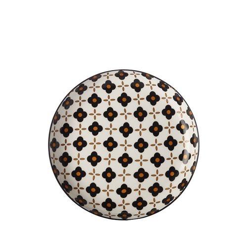 Christopher Vine Marigold Side Plate Black Flower 19cm