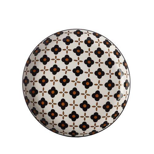 Christopher Vine Marigold Tapas Plate Black Flower 23cm