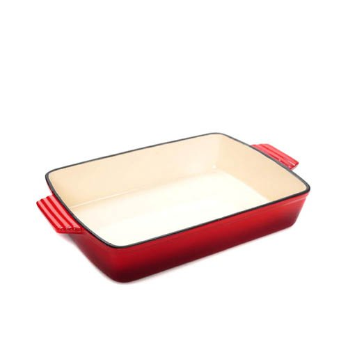 Classica Enamelled Cast Iron Roasting Pan 33x23x7cm Red
