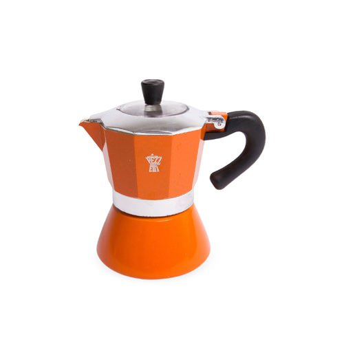 Pezzetti Bellexpress Coffee Maker 3 Cup Orange