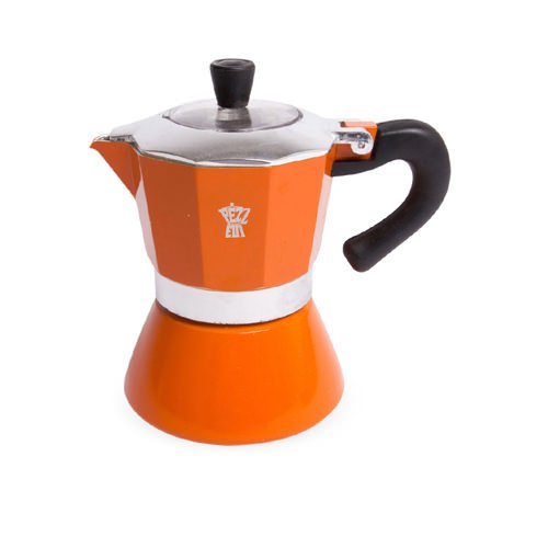 Pezzetti Bellexpress Coffee Maker 6 Cup Orange