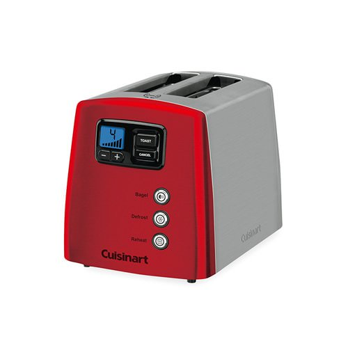 Cuisinart Stainless Steel and Metallic Red 2 Slice Toaster