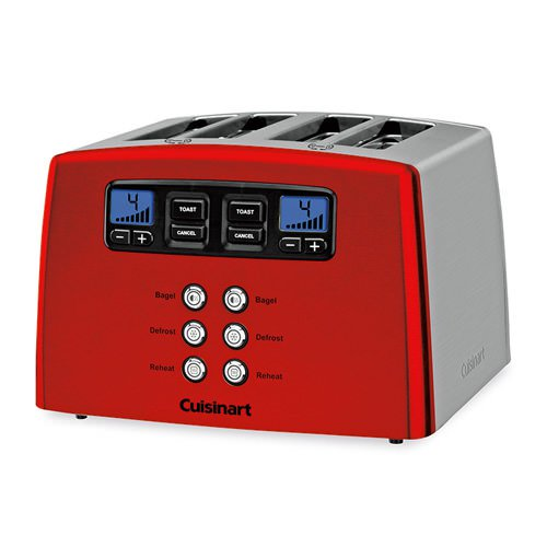 Cuisinart Stainless Steel and Metallic Red 4 Slice Toaster