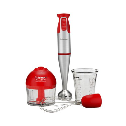 Cuisinart Stick Blender Red with Attachments