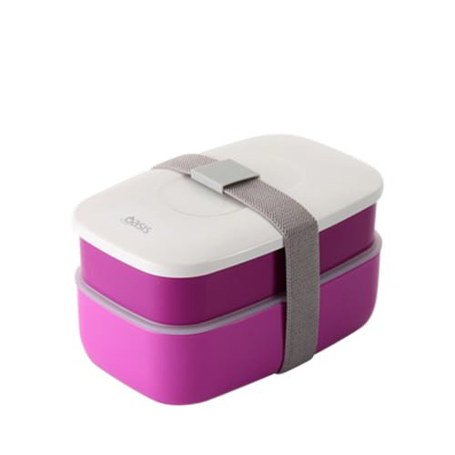 d line oasis bento stackable lunch box purple fast shipping. Black Bedroom Furniture Sets. Home Design Ideas