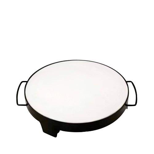 Davis & Waddell Round BBQ Pizza Stone With Porcelain Enamel Rack 38cm